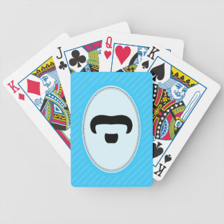 Rocker Mustache Bicycle Playing Cards
