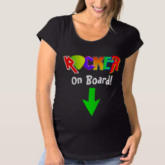 """""""Rocker on Board"""" Maternity T-Shirt"""