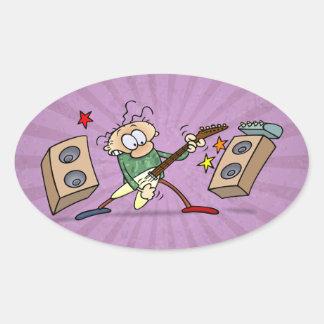 Rocker Oval Sticker