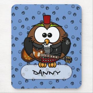 rocker owl mouse pad