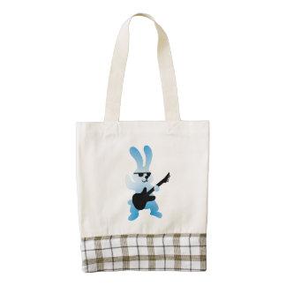 Rocker rabbit zazzle HEART tote bag