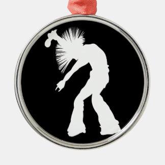 Rocker Silhouette Metal Ornament