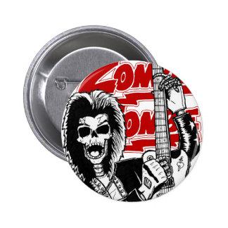 Rocker skull pinback button