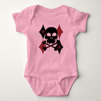 Rocker Skull K Baby Bodysuit