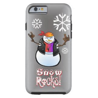 Rocker Snowman Tough iPhone 6 Case Template