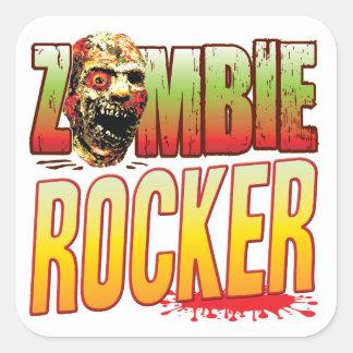 Rocker Zombie Head Sticker