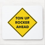 Rockers Caution Sign Mouse Pads