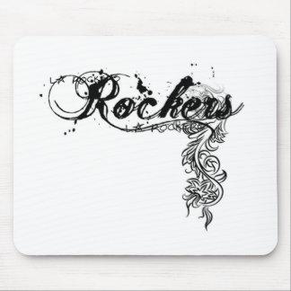 ROCKERS SWIRL DESIGN MOUSE PAD