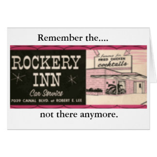 Rockery Inn, Remember the...., not there anymore. Card