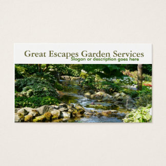 Rockery Water Garden Business Card Template