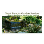 Rockery Water Gardening Landscaper Business Double-Sided Standard Business Cards (Pack Of 100)