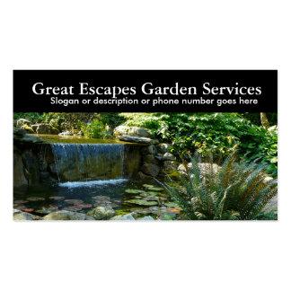 Rockery Water Gardening Landscaper Business Business Cards