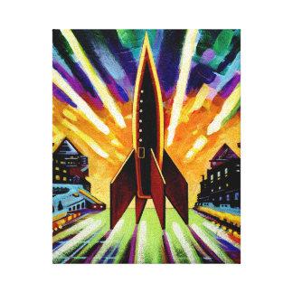 Rocket #25 stretched canvas prints