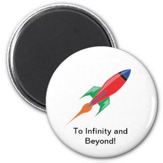 Rocket 2 Inch Round Magnet