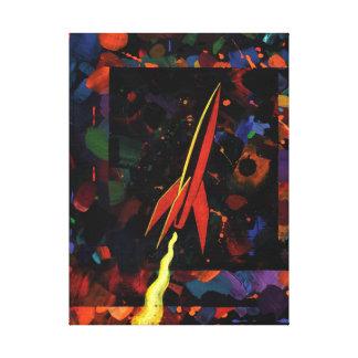 Rocket #52 stretched canvas prints