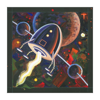 Rocket #76 stretched canvas print