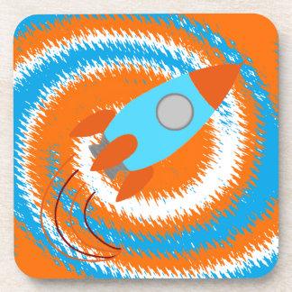 Rocket anaranjado y azul posavaso