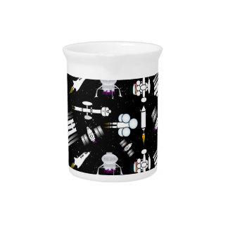 Rocket and Spaceship Pattern in stars Beverage Pitchers