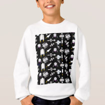 Rocket and Spaceship Pattern in stars Sweatshirt