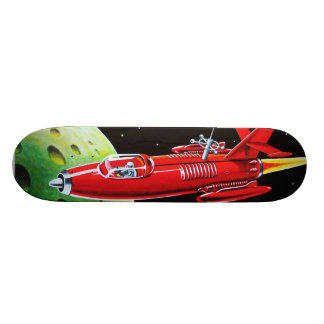 rocket art skateboard