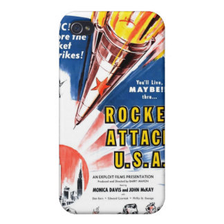 """Rocket Attack USA"" iPhone Case Case For iPhone 4"
