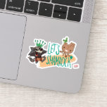 "Rocket & Baby Groot ""Let's Shamrock"" Sticker"