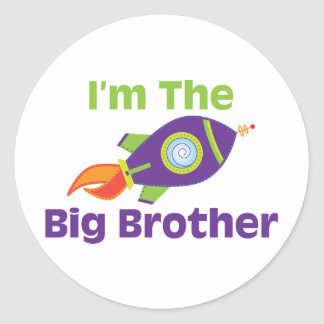 Rocket Big Bro Classic Round Sticker