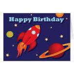 Rocket Birthday Card