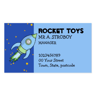 Rocket blue green Business Card