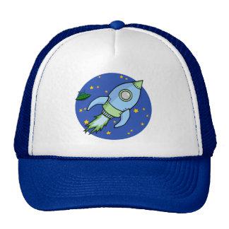 Rocket blue green Hat