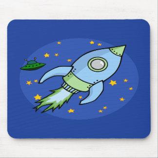 Rocket blue green Mousepad