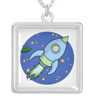 Rocket blue green Necklace