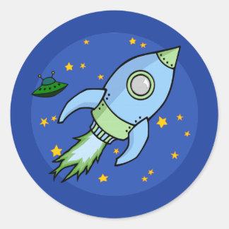 Rocket blue green Sticker
