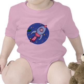 Rocket blue pink Infant Shirts