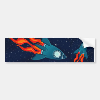 Rocket Car Bumper Sticker