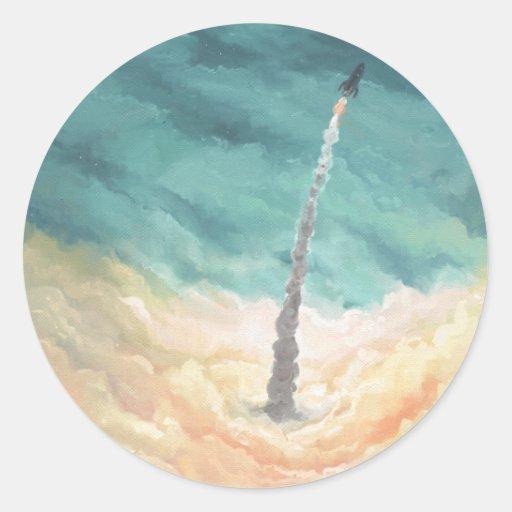 Rocket Classic Round Sticker