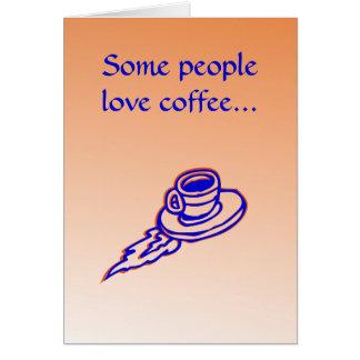 Rocket Coffee Caffeine Tranquilizer Relaxing Card