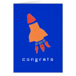 Rocket congratulations card