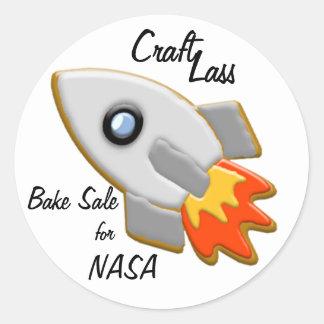 Rocket Cookie Stickers