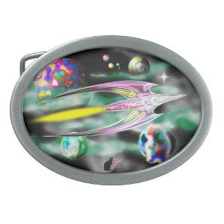 Rocket de cristal hebillas cinturon ovales