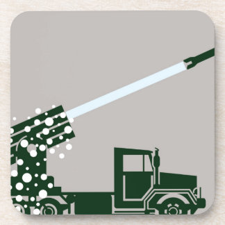 Rocket Fire Truck Drink Coaster