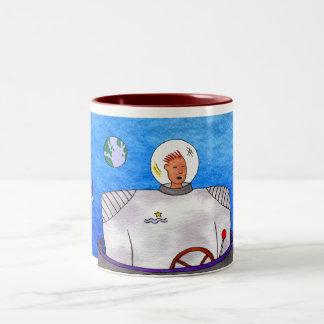 Rocket Fuel TinCan SpaceMan Two-Tone Coffee Mug