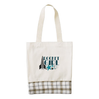 Rocket Girl Zazzle HEART Tote Bag