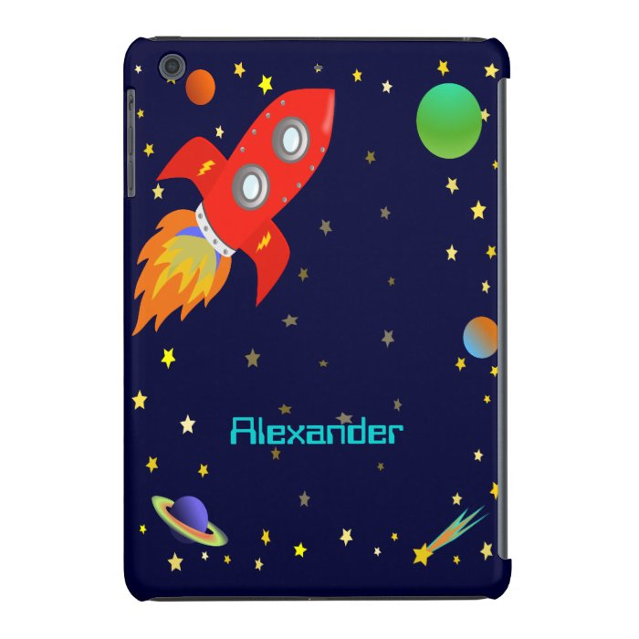 Rocket in Outer Space Personalized iPod 4G Case