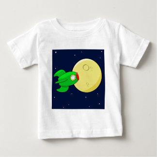Rocket in the moon baby T-Shirt