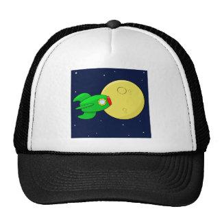Rocket in the moon mesh hats
