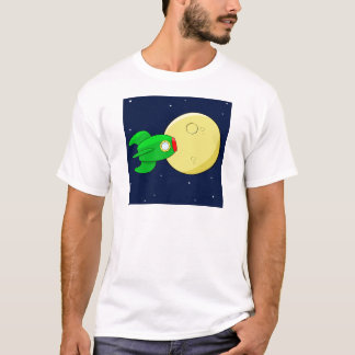 Rocket in the moon T-Shirt