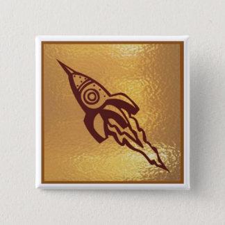 Rocket Jet SpaceJet - Medal Icon Gold Base Button