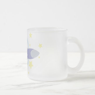 Rocket Kids Frosted Glass Coffee Mug