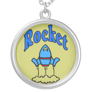 Rocket  Kids Silver Plated Necklace